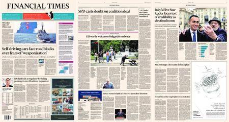 Financial Times Europe – 15 January 2018
