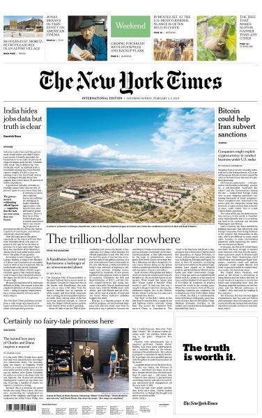 International New York Times - 2-3 February 2019