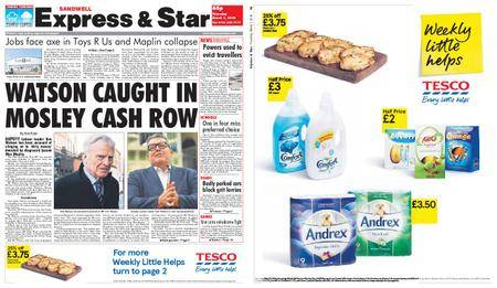 Express and Star Sandwell Edition – March 01, 2018