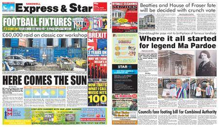 Express and Star Sandwell Edition – June 22, 2018