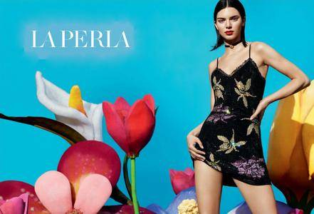 Kendall Jenner by Mert & Marcus for LA PERLA Fall/Winter 2017