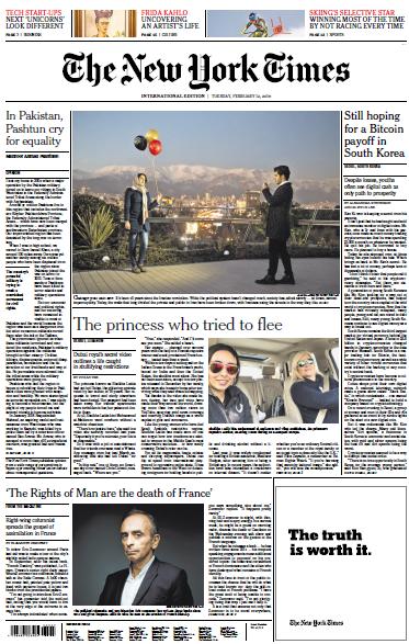 International New York Times - 12 February 2019