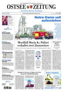 Ostsee Zeitung Wolgast - 17. April 2019