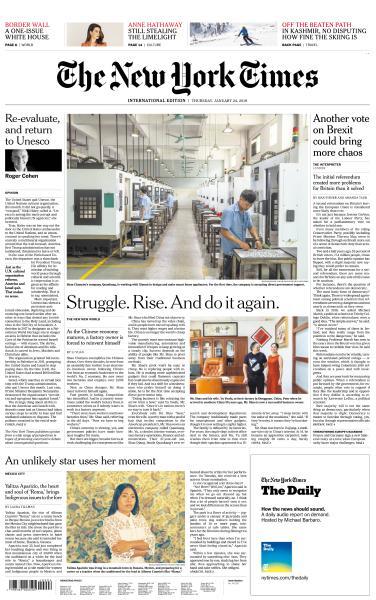 International New York Times - 24 January 2019