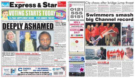Express and Star Sandwell Edition – September 12, 2018