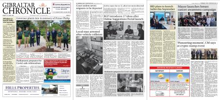 Gibraltar Chronicle – 18 June 2021