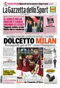 La Gazzetta dello Sport Roma – 01 novembre 2018