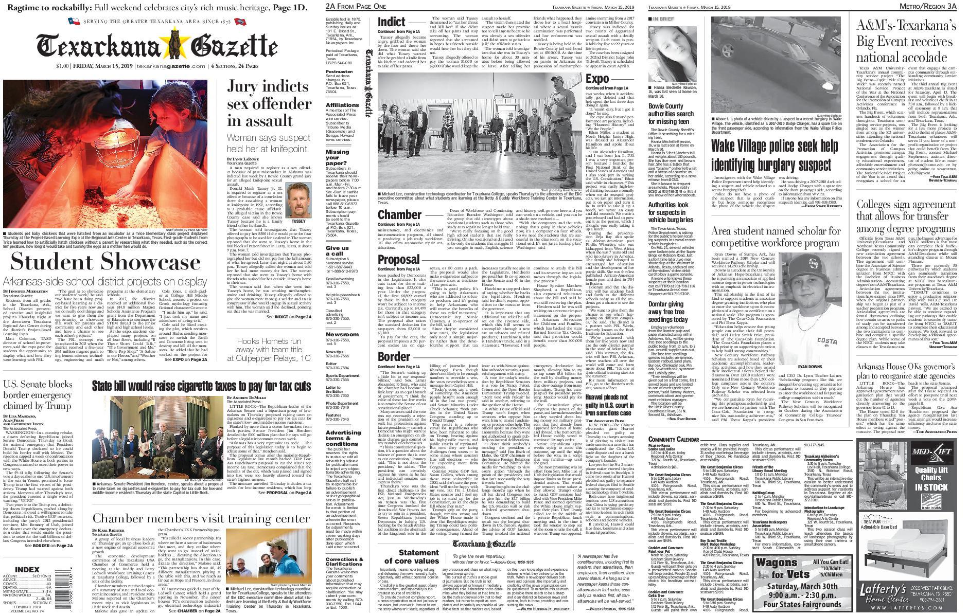 The Texarkana Gazette – March 15, 2019