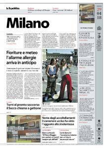 la Repubblica Milano - 29 Aprile 2018