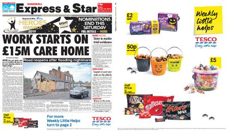 Express and Star Sandwell Edition – October 25, 2019
