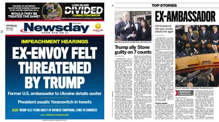 Newsday – November 16, 2019
