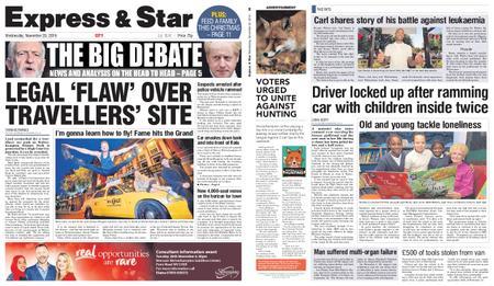 Express and Star City Edition – November 20, 2019