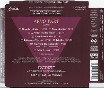 Arvo Part - Triodion and Other Choral Works -  Polyphony / Stephen Layton (2003) {Hyperion SACD Hybrid SACDA67375}
