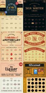 CreativeMarket The Retro Brand Font Bundle 3590884