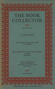 The Book Collector - Winter, 1969