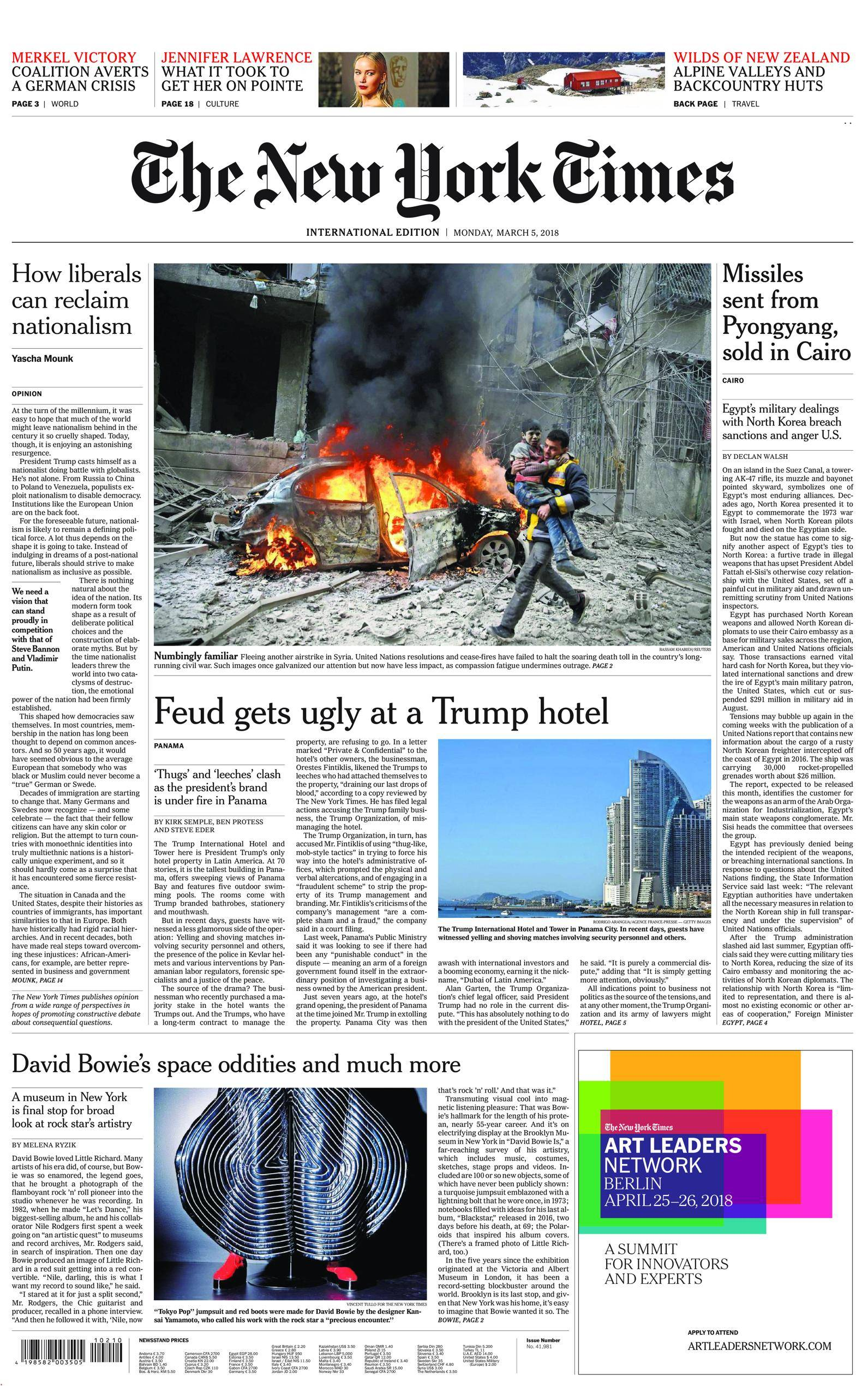 International New York Times - 05 March 2018