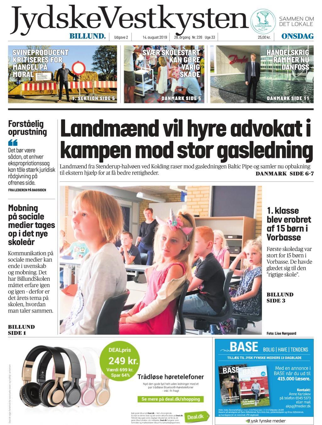 JydskeVestkysten Billund – 14. august 2019