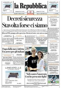 la Repubblica - 17 Febbraio 2020