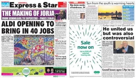 Express and Star Sandwell Edition – February 16, 2019
