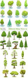 Vectors - Different Shiny Trees 13