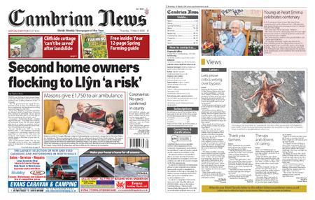 Cambrian News Arfon & Dwyfor – 20 March 2020
