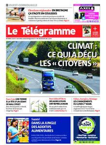 Le Télégramme Ouest Cornouaille – 01 mars 2021