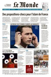 Le Monde du Vendredi 6 Juillet 2018