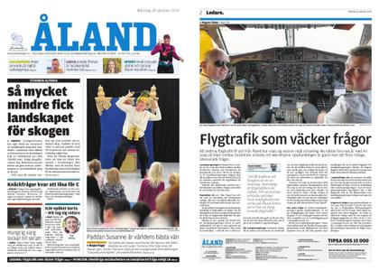 Ålandstidningen – 28 oktober 2019