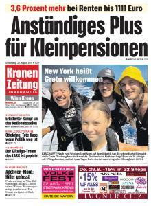 Kronen Zeitung - 29 August 2019