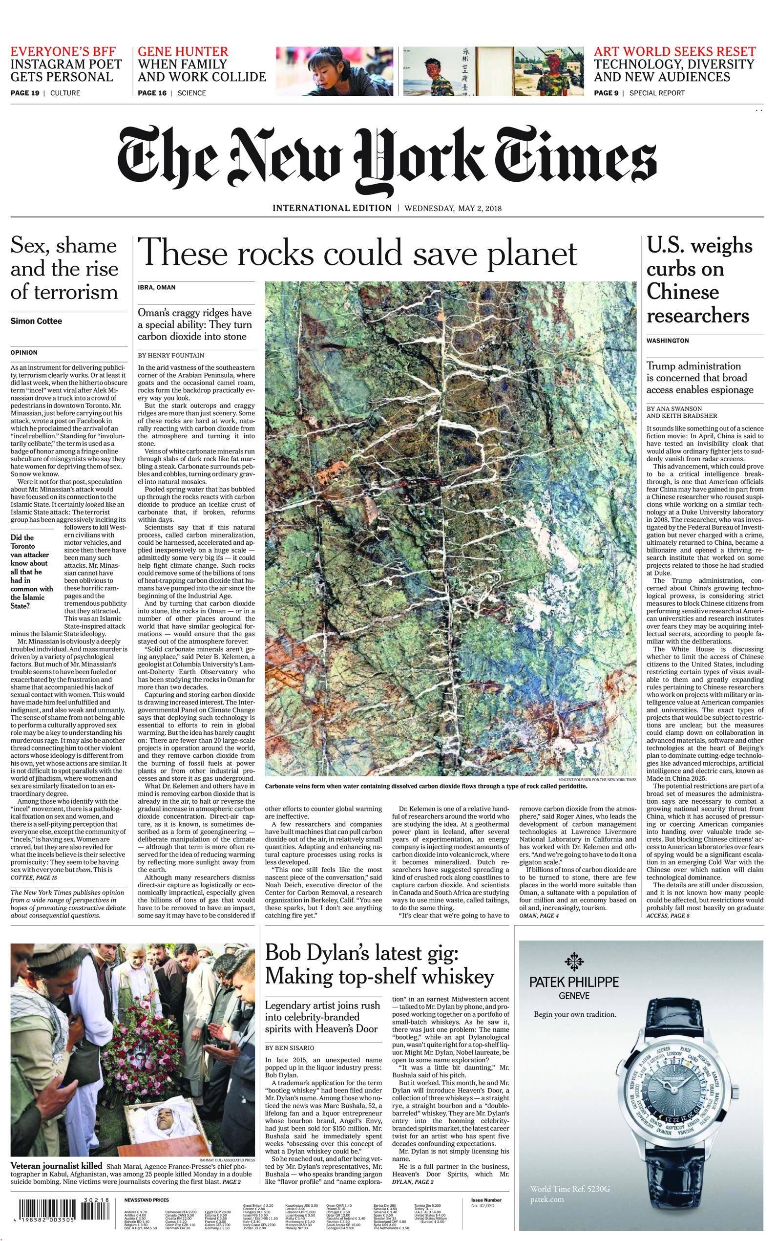 International New York Times - 02 May 2018