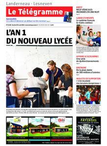 Le Télégramme Landerneau - Lesneven – 30 août 2019