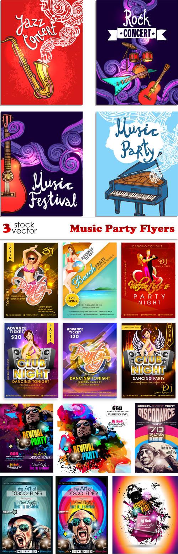Vectors - Music Party Flyers
