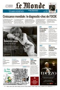 Le Monde du Vendredi 20 Septembre 2019