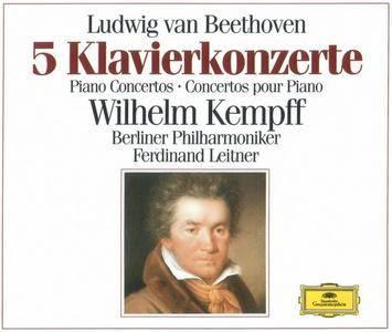 Wilhelm Kempff, Berliner Philharmoniker, Ferdinand Leitner - Beethoven: 5 Piano Concertos (1998)