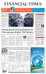 Financial Times Europe - August 3, 2020