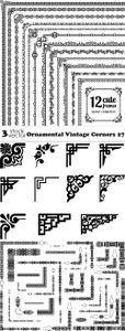 Vectors - Ornamental Vintage Corners 27