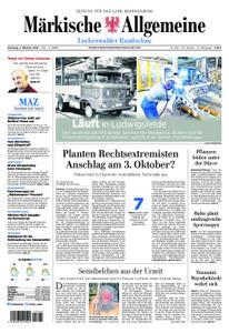 Märkische Allgemeine Luckenwalder Rundschau - 02. Oktober 2018