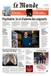 Le Monde du Samedi 27 Janvier 2018