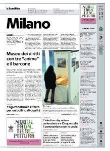 la Repubblica Milano - 19 Dicembre 2017