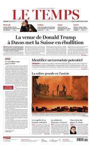 Le Temps - 11 janvier 2018
