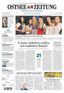 Ostsee Zeitung Wolgast - 09. Oktober 2017
