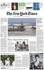International New York Times - 15-16 September 2018