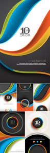 Business Abstract Templates Vector