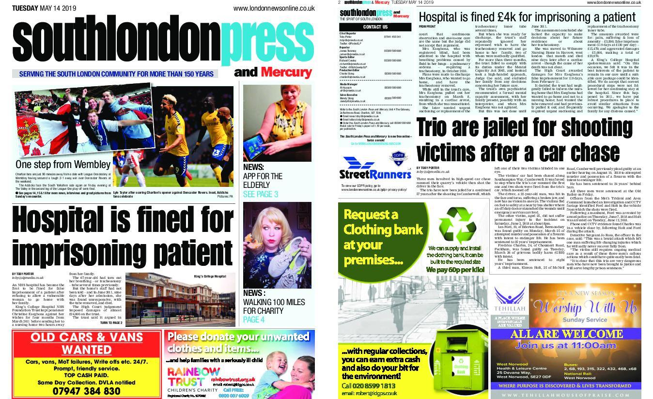 South London Press – May 14, 2019
