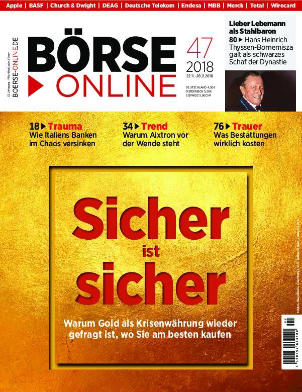 Börse Online – 22. November 2018