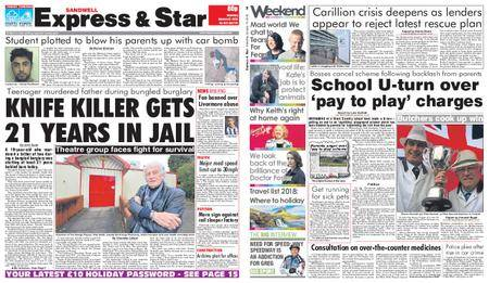 Express and Star Sandwell Edition – January 13, 2018