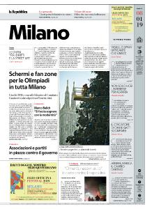 la Repubblica Milano - 8 Gennaio 2019