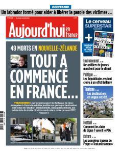 Aujourd'hui en France du Samedi 16 Mars 2019