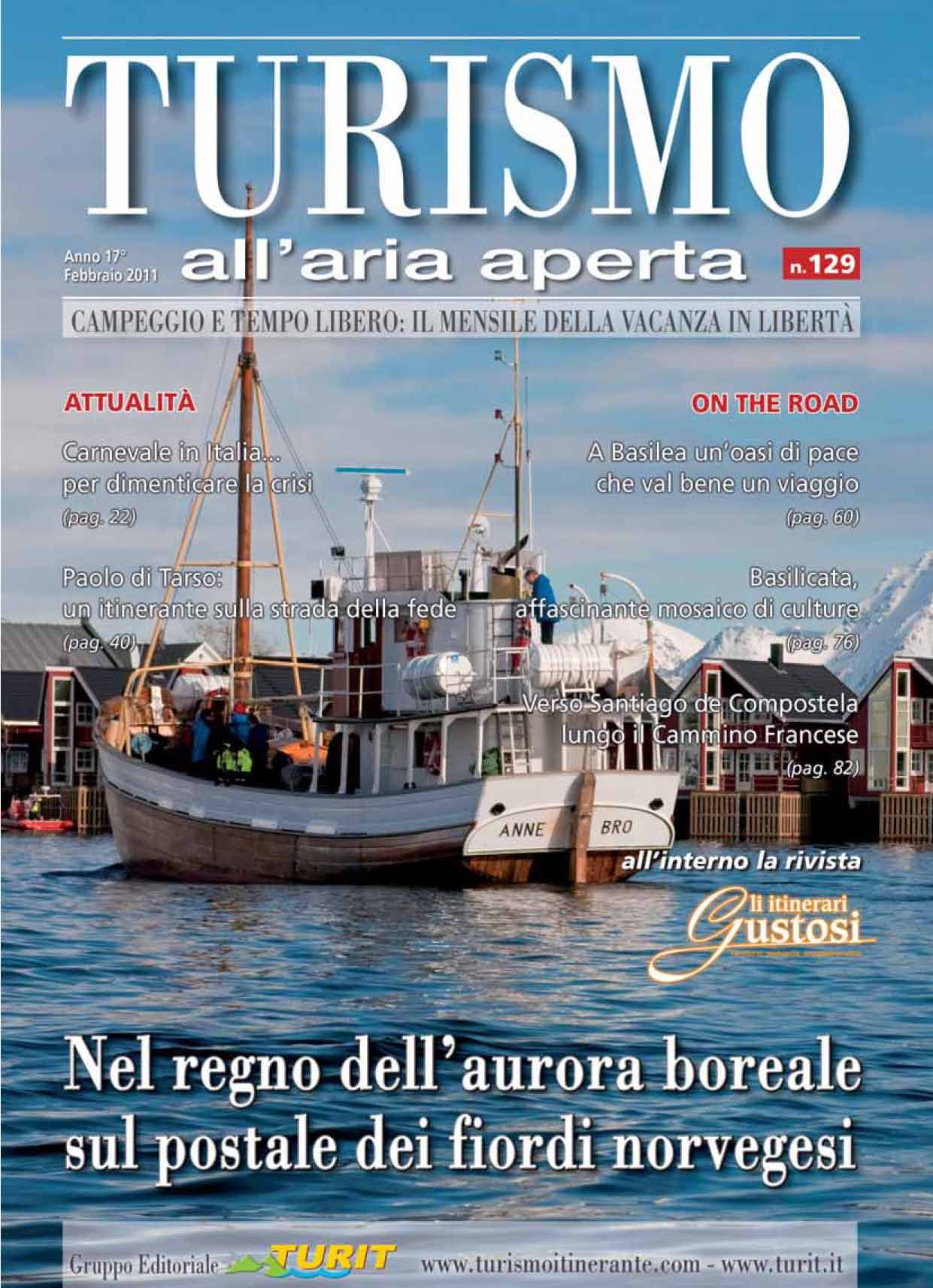 Turismo all'aria aperta Nr.129 Febbraio 2011