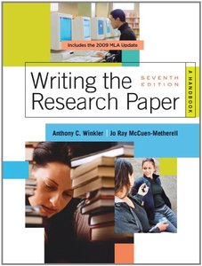 Writing the Research Paper: A Handbook, 2009 MLA Update Edition (7 edition)